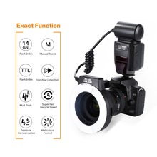 Macro Ring Flash KF-150 Ring Flash Light Macro Ring Lite For Nikon D7100 D7000 D5300 D5200 D5100 D5000 D3200 D3100 D3300 D90