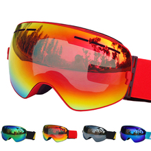 Ski Glasses Double Lens UV400 Anti-fog Ski Goggles Snow Skiing Snowboard Motocross Goggles Ski Masks or Eyewear(China)