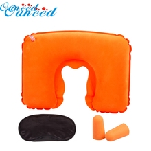 Ouneed Lovely pet hot selling 2016 Inflatable Travel Pillow Air Cushion Neck U-Shaped Compact Plane Set Jun27(China)
