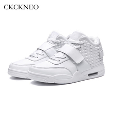 Men&women Basketball Shoes Air Cushion Sneakers Outdoor Athletic Trainers Sport Shoes Retro Bottoms Breathable Lovers Sneakers(China)