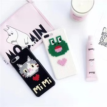 New Style Cute Animal 3D Cartoon Brick Puzzle Building Block DIY Coque Plastic PC Hard Phone Case For iPhone 6 6S 7 7 Plus Cover