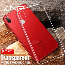 ZNP Cases For Apple iphone X Ultra Thin Soft TPU Transparent Phone Case For iPhone x Crystal Clear Silicon Cover Phone Case Capa
