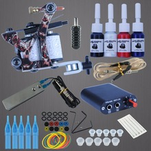 Professional Complete Tattoo Kit Beginner Machine Set 8 Wrap Coils Tattoo Gun Pigment Induction Tattoo Power Supply Set