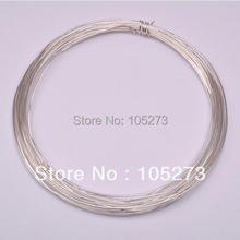 New Arriver 22 Gauge 925 Sterling Silver Plated Beading Wires Findings 1 Roll Top Quality New Free Shipping