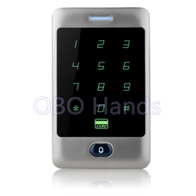 Free Shipping Silver Touch Metal Waterproof Access Controller Keypad RFID Door Access Control System Digital Lock For 8000 Users
