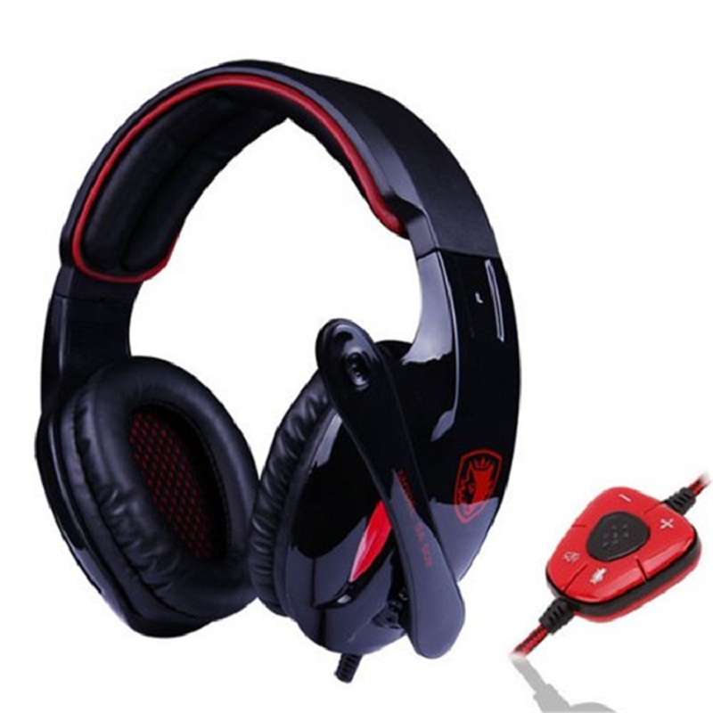 Brand Sades SA 902 Headset 7.1 Channel Surround Sound USB Professional Gaming Headphones Deep Bass with Mic for PC Gamer Black<br><br>Aliexpress