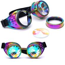 snowshine #5003 Kaleidoscope Colorful Glasses Rave Festival Party EDM Sunglasses Diffracted Lens(China)