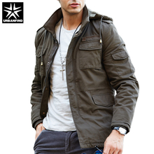Men Casual Hooded Design Jackets Man With Fur Tactical Coats Black / Army Green Spring Autumn Male Military Outerwear Size L-4XL