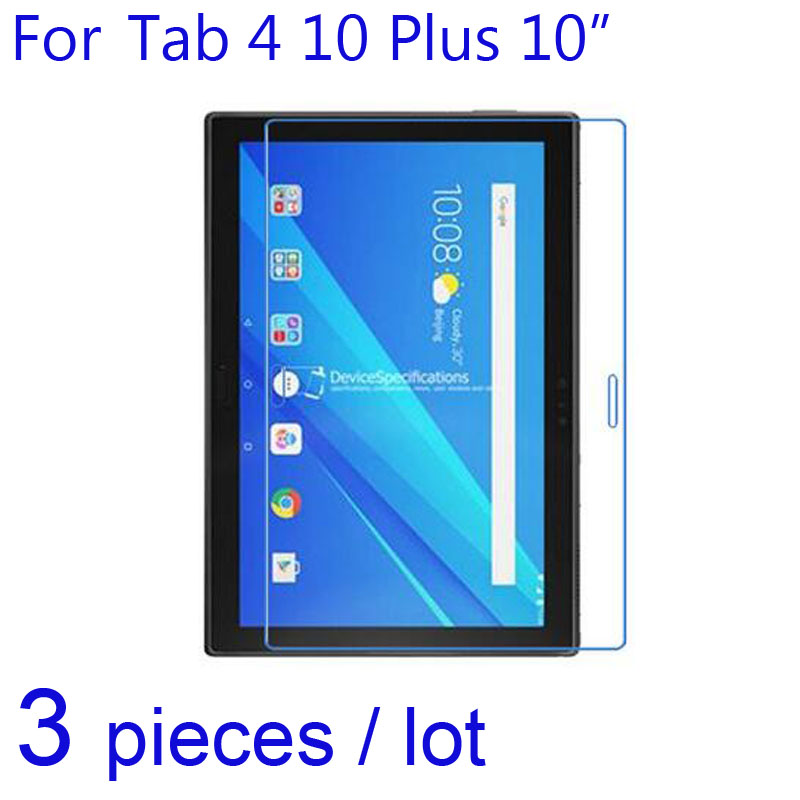 "Lenovo Tab 4 10 Plus 10"" Pad Tablet LCD Screen Protector Guard,3pcs/pack Clear/Matte/Nano Explosion-Proof Protective Films"