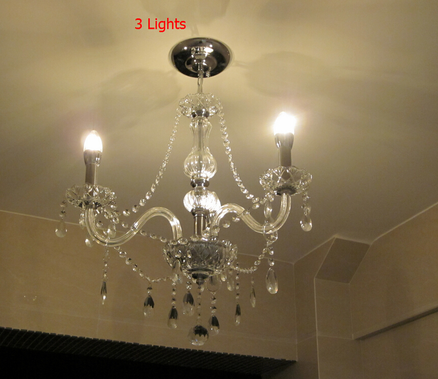 3 Bulbs European Candle Crystal Chandelier Ceiling Bedroom Living Room Lustres Modern crystal chandelier E14 Retail Wholesale<br><br>Aliexpress