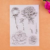 Розы счастье прозрачный Штамп для DIY Скрапбукинг Декоративные карты решений судов