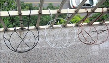 052839 5 pieces/lot The balcony gardening equipment, wrought iron baluster, hanging flower gardening Flower pot hanging planter(China)