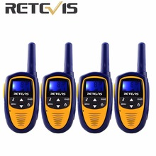 4pcs Retevis RT31 Mini Walkie Talkie 8CH 0.5W UHF FRS/GMRS VOX LCD Display for Children Gift Toy Radio A9112M