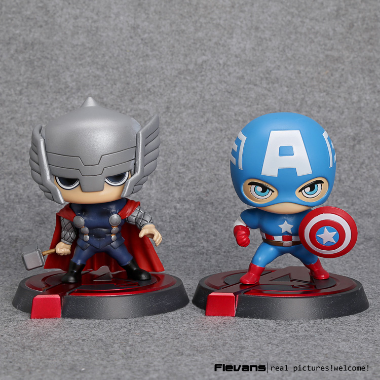Marvel Avengers Captain America Thor Bobblehead PVC Action Figure Collectible Model Toy HRFG478<br><br>Aliexpress