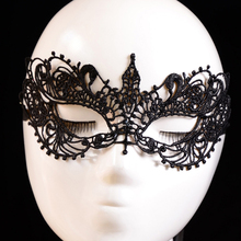 New Qualified Lady Black Lace Floral Eye Mask Venetian Masquerade Fancy Party Dress Levert Dropship dig6822(China)