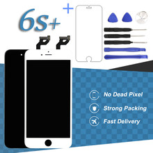 No Dead Pixel 5.5 Inch Display For iPhone 6S Plus LCD Touch Screen Black White Mobile Phone Replacement Digitizer Assembly(China)