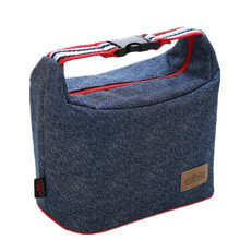 Denim Lunch Bag Portable Women Hangbag Picnic Bento Box Insulated Pack Drink Food Thermal Ice Cooler Leisure Accessories