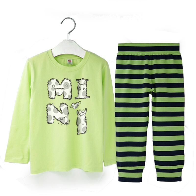 2106 High Quality Kids Clothes Infant Girls Boys Clothing Sets Cotton Childrenwear 2pcs Baby Bottoming-shirt Sleepwear<br>