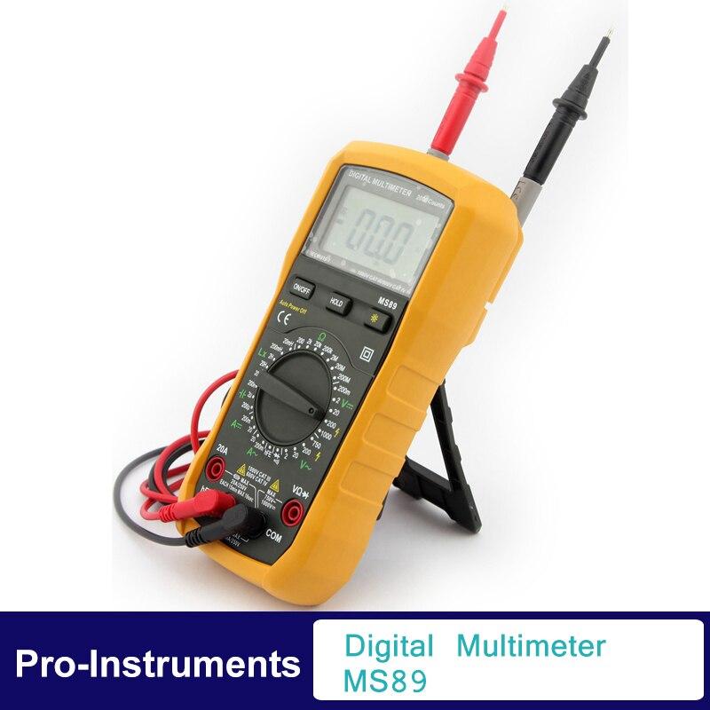 Digital Multimeter Resistance Inductance Capacitance LCR Meter multi tester comprobadores Multimeter MS89<br>