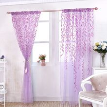 New Chic Room Willow Pattern Voile Window Curtain Sheer Panel Drapes Scarfs Curtain 1M*2M