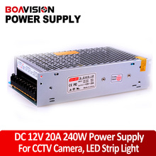 Power supply 12V 20A 240W DC Switching CCTV Power Supply Transformer LED CCTV Camera DVR Security