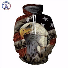 Mr.1991INC New Fashion Brand Hoodies Men/Women Eagle Print 3D Sweatshirt American Elements Hoody Tracksuits Pullover Tops(China)