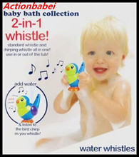 Actionbabei New Kid's Children playing musical instruments Baby bathing toys Birds whistle Water can be blown out of the birds
