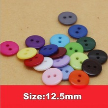 Free ship!1000pc!12.5mm Candy colors sewing button, bulk buttons,sewing accessories,Resin Buttons for garment