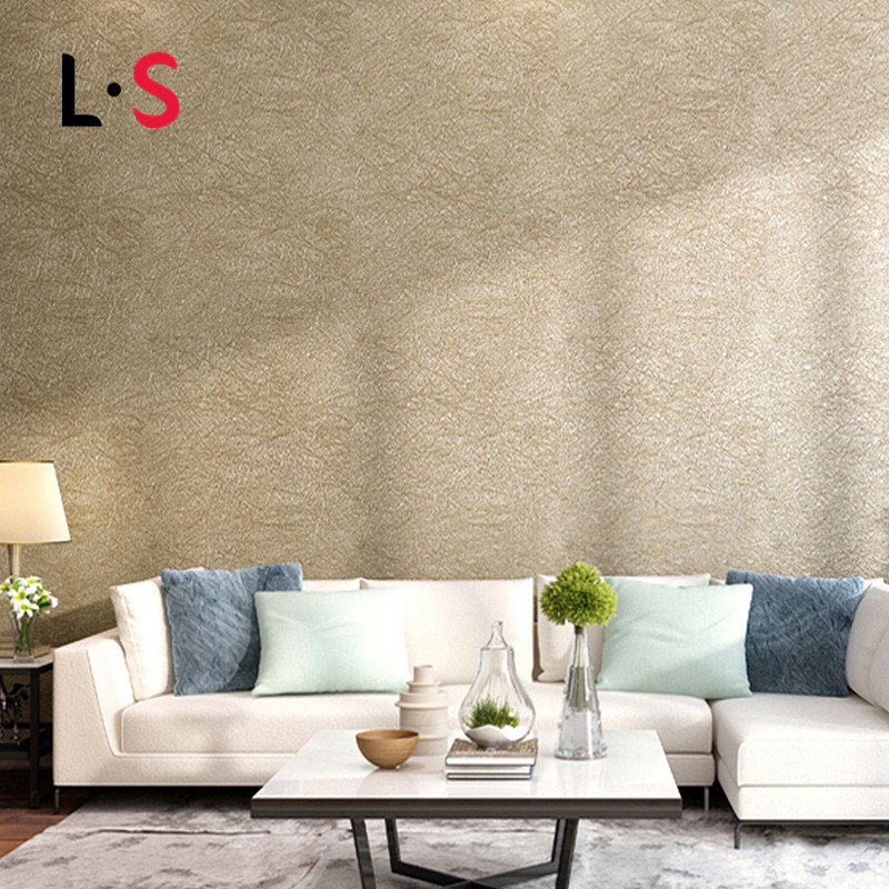 9.5 Modern PVC Wallpaper Solid Color Embossed Plain Living Room Warm And Wallpaper Roll Bedroom Wall Paper TV Backdrop WP16051<br>