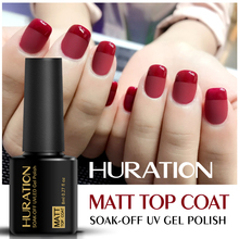 Huration 8ml Transparent UV LED Matt Top Coat Gel Nail Polish Manicure Acrylic Paints Durable Soak Off Matte Gel Varnish(China)