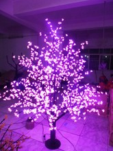 Free ship LED Cherry Blossom Tree Light Christmas Holiday Party wedding home Tree Light 1,024pcs LEDs 6ft Purple waterproof(China)