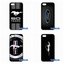 For Apple iPhone 4 4S 5 5S 5C SE 6 6S 7 Plus 4.7 5.5 iPod Touch 4 5 6 Ford Mustang Logo Case Cover(China)