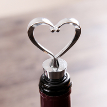 Bar Tools Wine Bottle Stopper Heart Shaped Red Wine Bottle Stopper Twist Wedding Favor Gifts New 2017