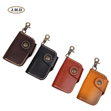 J.M.D New Arrivals Genuine Leather Men's Fashion Style Key Bag Card Holder Classic Design Car Key Bag Supplier 8131A-1/B-1/Q-1/X(China)