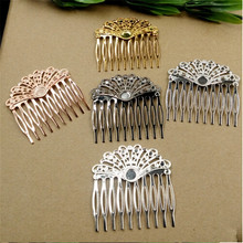 10pcs/lot Size:55*60mm Hairpin Copper/Metal Antique Bronze/Silver/Golden Hairpin DIY fashion Jewelry Accessories Fingings