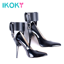 IKOKY 1 Pair High Heels Locking Belt SM Gear Ankle Cuff High-Heeled Shoes Restraints Kit Sex Toys for Couples Positioning Bandag(China)
