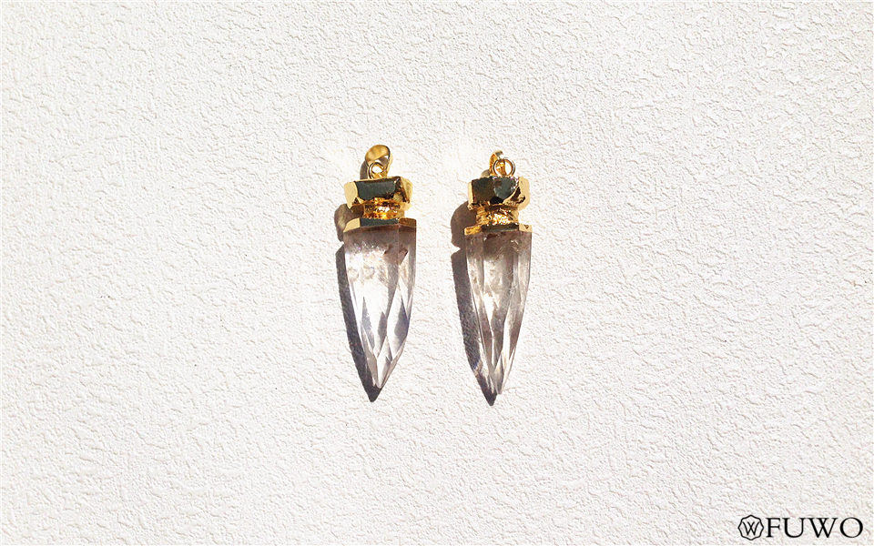 natural crystal spike pendant 7