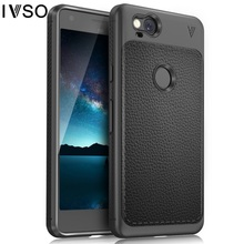 IVSO Gentry Series PU Leather Coated Flexible TPU Business Phone Case for Google Pixel 2