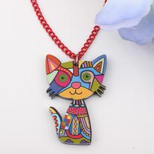 Bonsny cat lovely new 2014 spring/summer style necklaces & pendant for girls design style woman man jewelry cute(China)