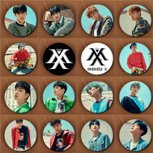 Youpop KPOP Korean MONSTA X Album The 1st World Tour Shinee Forever 58mm Round Badge Pins And Brooches For Clothes Hat Backpack