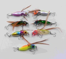 Grasshoppers insect 1Pcs, 50mm 3.4 g Bait Sea Fishing gear Fly Jig Lure Hard Bait Bait Swing Tool Allure