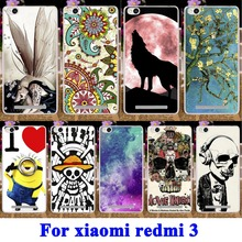 Cool Skull Head Soft TPU & Hard PC Fundas Cases for Xiaomi Redmi 3 Cover Case 5.0 Redmi3 Hongmi3 Hongmi 3 Mobile Phone Bag Shell