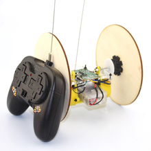 Buy Technology Small Production Material Puzzle DIY Disc Wheel Tire Remote Control RC Model Toys Robot Science Experiment Kids for $7.36 in AliExpress store