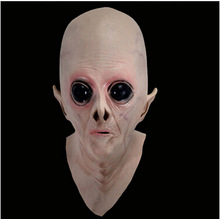 UFO science fiction movie theme mask cosplay wigs Horror ghost mask alien face caps Tricky (4EDF) Halloween(China)