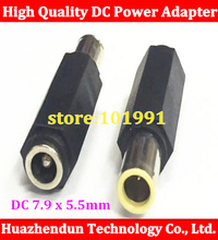10pcs DC 7.9 x 5.5mm DC Male to 5.5 x 2.1mm DC Female Power Plug Tip Laptop Adapter connector