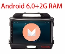 3G/4G 9 Inch!sportage r Android 6.0 quad core Head unit Car DVD player for KIA 2014 2011 2012 2013 2015 with Gps wifi Radio