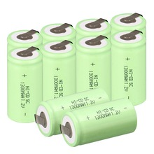 brand new 15 PCS a set Sub C SC battery 1.2V 1300mAh Ni-Cd NiCd Rechargeable Battery 4.25CM*2.2CM -Green Color