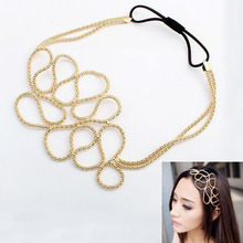 New Fashion Metallic Hollow Corn Chain Hairband Hair Accessories For Women FS99