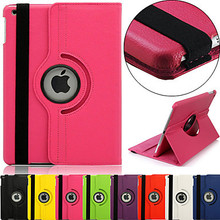 360 Degree Rotating 100% case for iPad mini1 Mini2 Mini3(Assorted colors)(China)