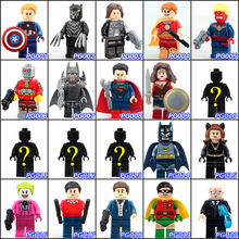 Latest Single Sale DC& Super Hero DIY Dolls Buliding Block Collection Toys DIY Best Children  Figure Gift Toys